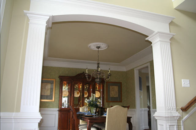 Ceiling Treatments 1pc Trim In Dining Room