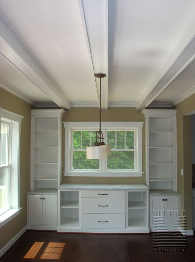 Breakfast Room Ceiling Beams