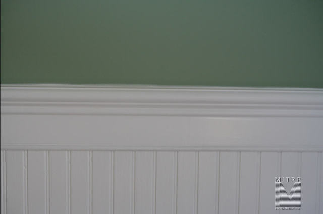 chair rail wainscoting. Beadboard Wainscot - Close-up View Chair Rail Wainscoting R