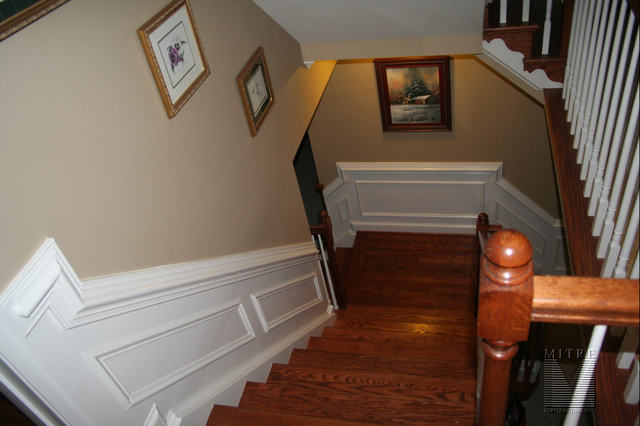 2pc. Chair Rail & Shadowboxes in Stairway
