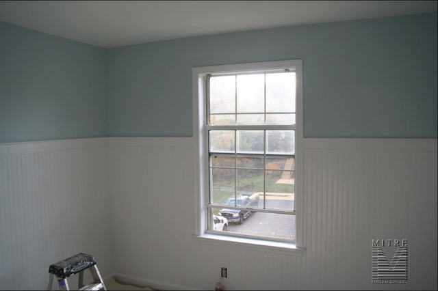 "WAINSCOTING & CHAIR RAIL: 60"" High Wainscoting in Bedroom"