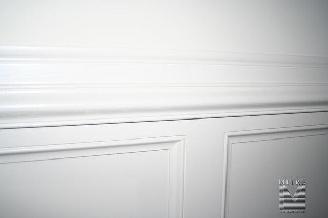 Wainscot & Chair Rail Detail w/ 1x & ogee