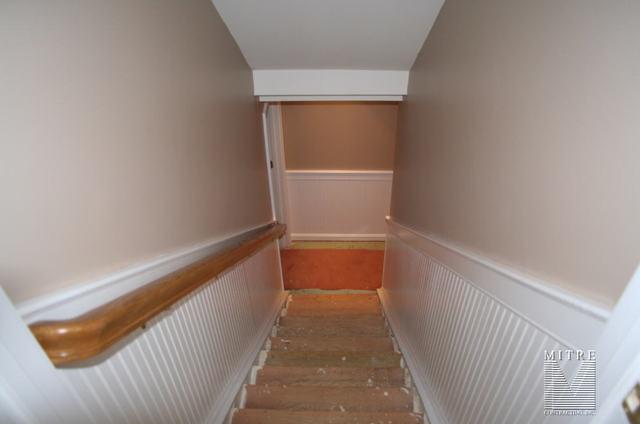 Beadboard Wainscot in Stairway