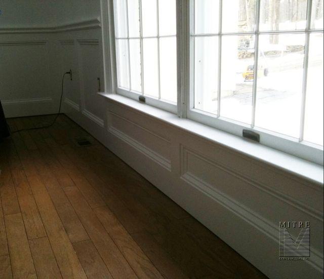 WAINSCOTING & CHAIR RAIL: Flat Wall Panel Wainscot